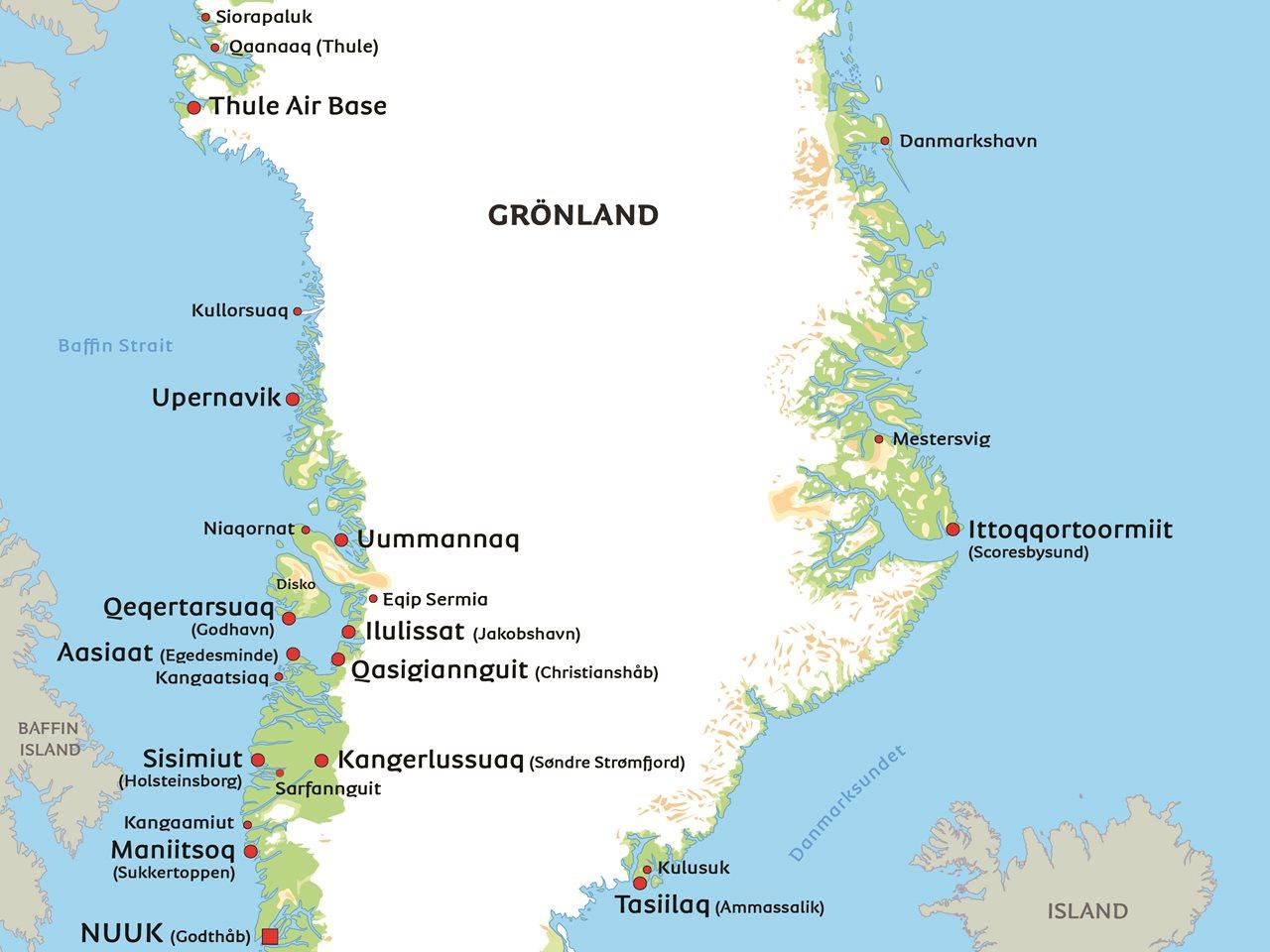Karta Over Spaniens Vastkust.Gronland Karta Se Gronland Och Nuuk Pa Karta