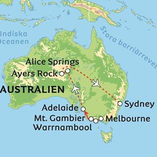 Karta Australien Adelaide.Waltzing Matilda Och Sydney
