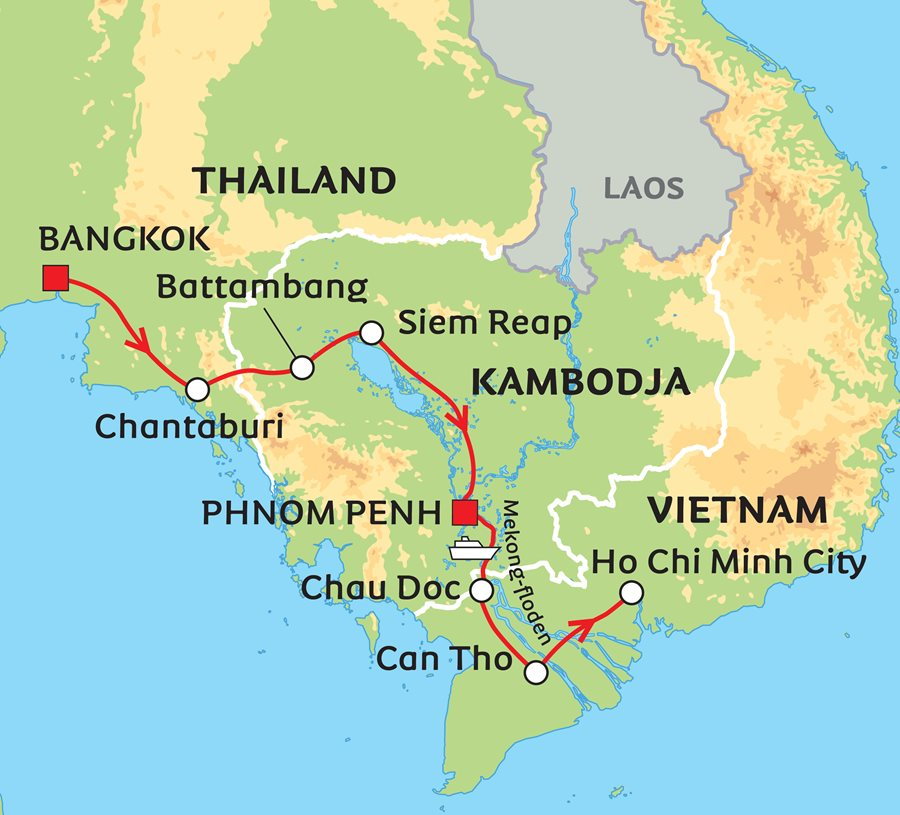 Karta Centrala Thailand.Khmerernas Rike Thailand Kambodja Och Vietnam