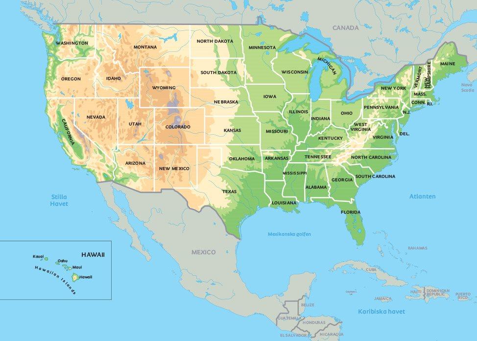 karta usa Karta USA: Se de största städerna i USA, exempelvis New York, Las  karta usa