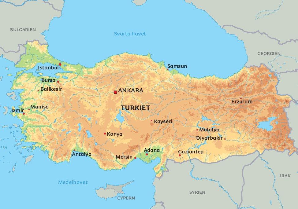 Karta Europa Turkiet.Karta Turkiet Se Bland Annat Fantastiska Istanbul Och Huvudstaden
