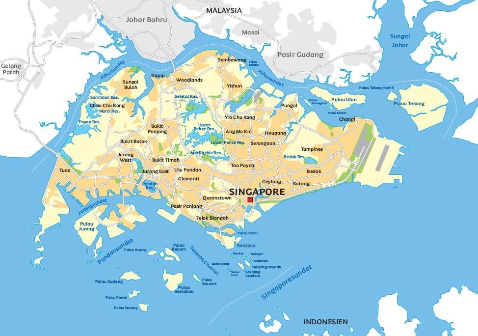 Bildresultat för karta över singapore
