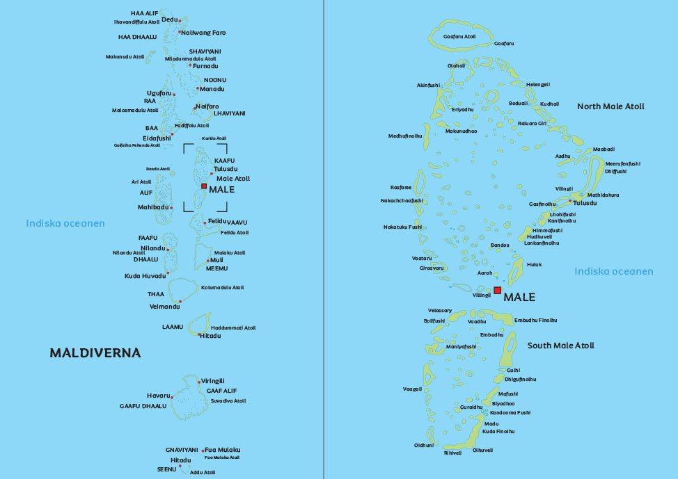 karta på maldiverna Karta Maldiverna: se de största städerna i Maldiverna på kartan karta på maldiverna