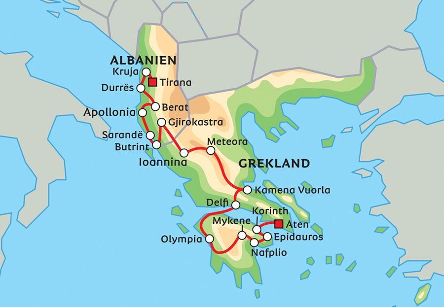 Karta Europa Grekland.Julius Caesars Segertag Och Antikens Grekland