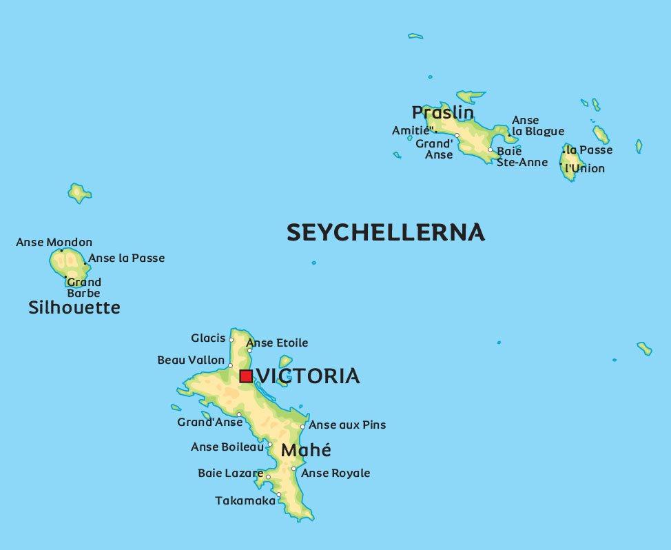 seychellerna karta Karta Seychellerna: Se en karta över Seychellerna, bland annat  seychellerna karta