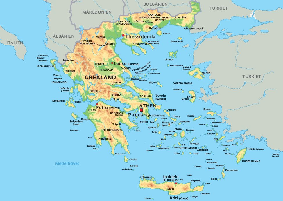 Gammal Karta Italien.Grekland Karta Se De Storsta Staderna I Grekland Pa Karta Aten