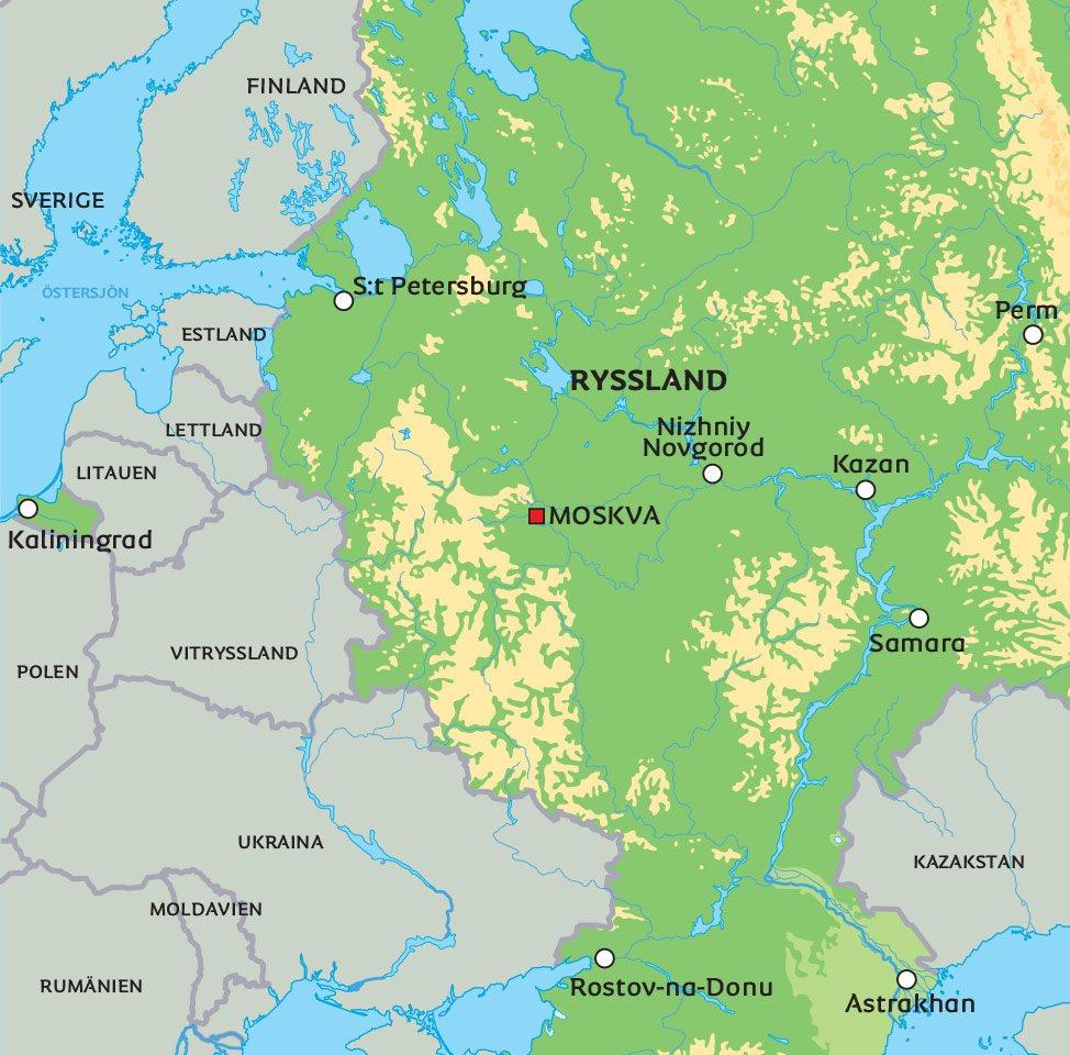 Lettland Karta Europa.Karta Ryssland Se De Storsta Staderna Pa Karta S T Petersburg