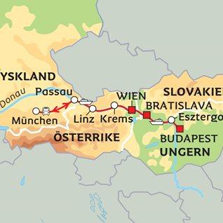 Karta Over Budapest Sevardheter.An Der Schonen Blauen Donau